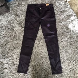 NWT AE hi rise jegging purple coated skinny jeans